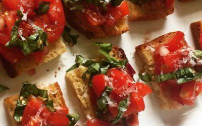 Gluten-Free Tomato Bruschetta Multigrain Crostini
