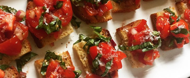 Tomato Bruschetta Gluten-Free Multigrain Crostini Recipe