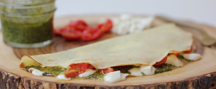 Gluten-Free Savory Caprese Crepes